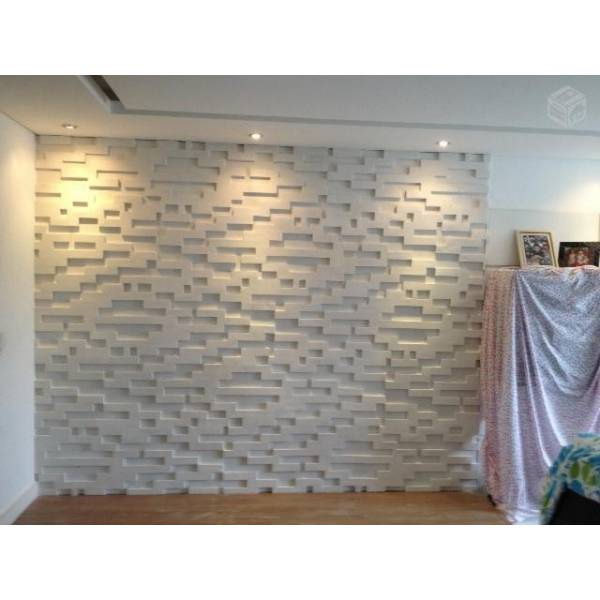 Parede de gesso em santo andr star gesso for Placas decorativas paredes interiores